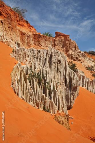 Aluminium Oranje eclat Fairy Stream - Red Canyon between Phan Thiet and Mui Ne. Vietnam