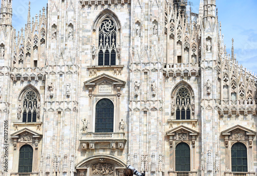 Fotobehang Milan the cathedral of Milan Italy - famous italian architecture landmarks