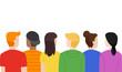 Teens Lgbt Youth Rainbow Colors Illustration
