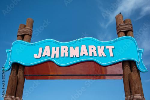 Fotobehang Amusementspark Schild 332 - Jahrmarkt