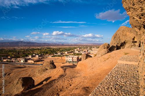 Fotobehang Marokko View of Kelaat Mgouna, Kalaat M'Gouna or El Kelaa M'Gouna village in the Valley of roses in Morocco, Africa