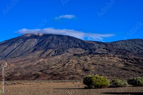 Fotobehang Cappuccino Landscape in Tenerfe Tropical Volcanic Canary Islands Spain