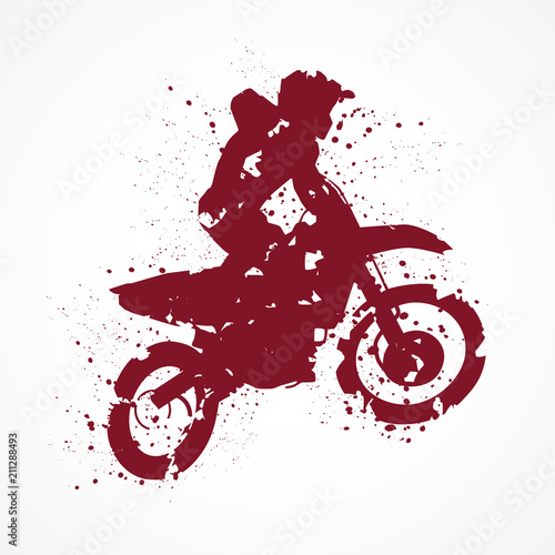 Moto-cross-Tâches rouges