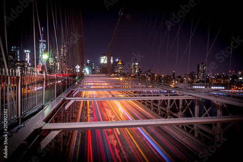 Fotobehang Nacht snelweg Brooklyn Bridge by night
