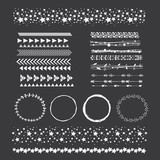 Hand drawn decorative elements: frame and bordres. - 211311898