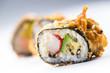Tempura sushi maki japanese traditional food