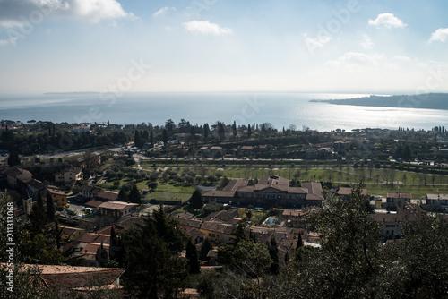 Plexiglas Khaki Castle. Padenghe sul Garda is a town and comune in the province of Brescia, in Lombardy.