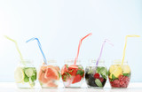 cool vitamin drink with fruits