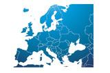 Mapa azul de Europa. - 211317400