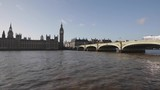 Westminster Bridge and Clock Tower at Thames River in London - 211327238
