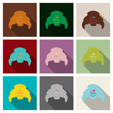 Croissant icon in flat style isolated on background vector illustration - 211327688