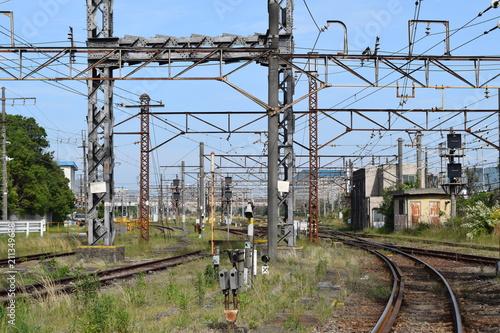 Aluminium Spoorlijn 川崎市川崎区産業道路沿い沿線