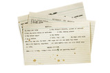 Old Recipes Typed on Index Cards Isolated - 211355025