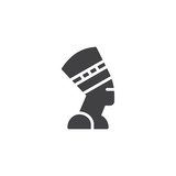 Nefertiti Profile vector icon. filled flat sign for mobile concept and web design. Egyptian queen simple solid icon. Symbol, logo illustration. Pixel perfect vector graphics - 211356858