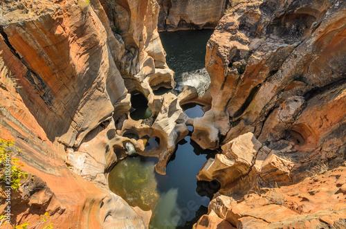 Blyde river canyon, viewpoint to the canyon. Mpumalanga near Graskop. South Africa © Codegoni Daniele