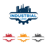 Industrial Factory Gear Logo Symbol - 211366262