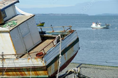 Fotobehang Schip Proue d'un navire