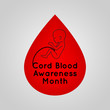 Cord Blood Awareness Month vector logo icon illustration