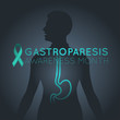 Gastroparesis Awareness Month vector logo icon illustration