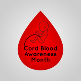 Cord Blood Awareness Month vector logo icon illustration - 211371434