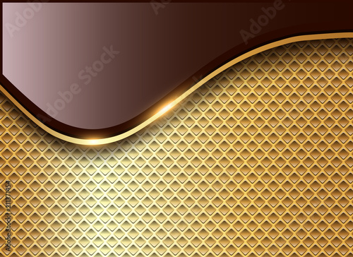 Poster Abstract business background, elegant gold