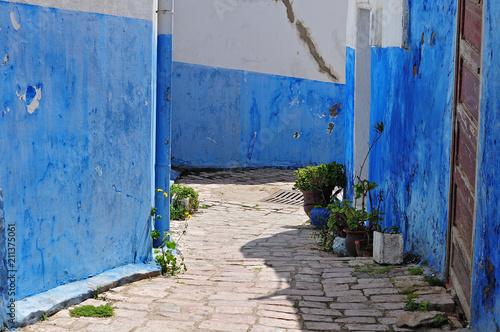 street in casbah des oudaias in Rabat, Morocco