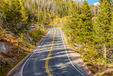 Highway at autumn in Colorado, USA. - 211376408