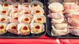 Delicious French pastries in paper cups - 211378048