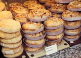 Typical French desserts in French bakery, Annecy - 211378241