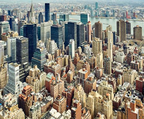 Aluminium New York Cityscape view of Manhattan