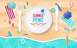 Summer picnic vector design.