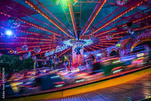 Fotobehang Amusementspark Amusement Park by Night