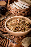 Bigos - stewed cabbage with meat,dried mushrooms and smoked sausage. - 211407023