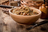 Bigos - stewed cabbage with meat,dried mushrooms and smoked sausage. - 211407084