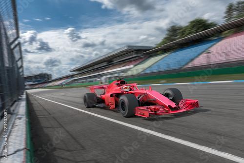 Fotobehang F1 Formel Rennwagen auf der Startgeraden
