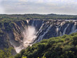 The beautiful Ruacana falls on the border of Namibia and Botswana. - 211408262