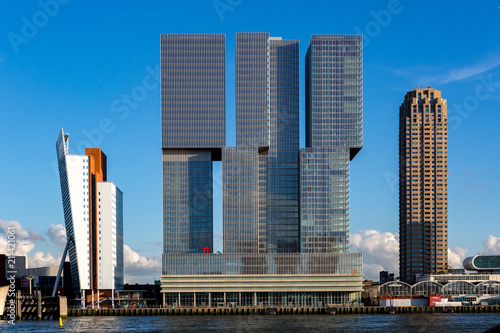 In de dag Rotterdam Cityscape of Rotterdam with modern buildings