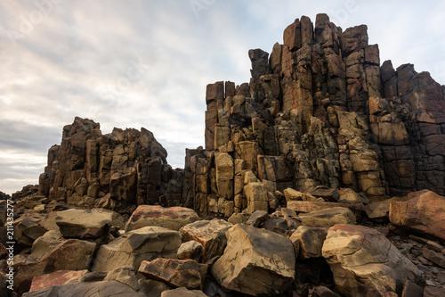 The iconic Bombo headland quarry near Kiama New South Wales Australia on 21st June 2018