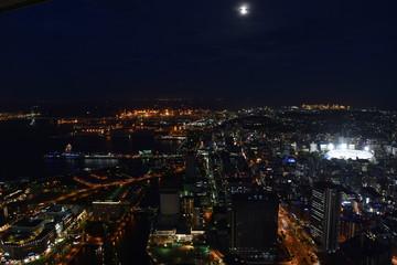 横浜ランドマーク夜景 (Night view from Round-mark Yokohama)