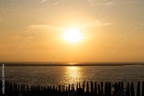 Fotobehang Meloen coucher de soleil