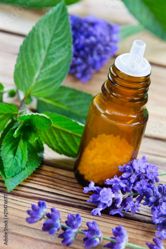 Homeopathy and healing herbs - lavender and peppermint