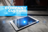 Company culture text on virtual screen. Business, technology and internet concept.? - 211482261