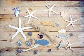 Wellness - Auszeit - Maritimer Hintergrund Rustikal © S.H.exclusiv