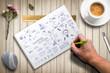 Leinwanddruck Bild - Umfangreiche Ideensammlung
