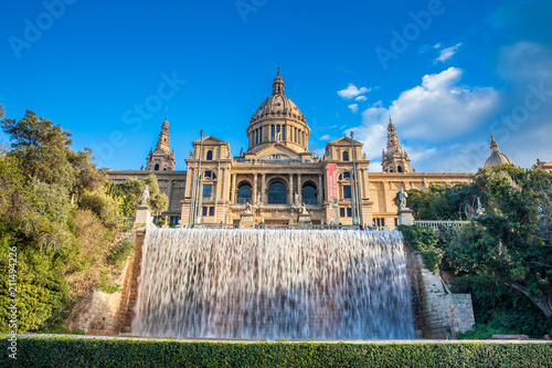 Aluminium Barcelona Magic Fountain of Montjuic and the Museu Nacional d'art de Catalunya