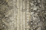 Foot footprint mud - 211502864