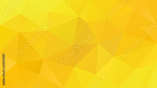 Vector Abstract Irregular Polygonal Background Triangle Low Poly Pattern Vibrant Sunny Yellow Color