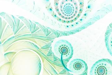 Spiralmuster - pastellgrün - mintgrün