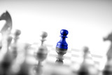 Chess business concept, leader teamwork & success - 211511864
