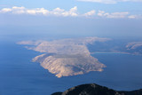 Krk island from Balinovac peak on Velebit mountain in Croatia - 211519827